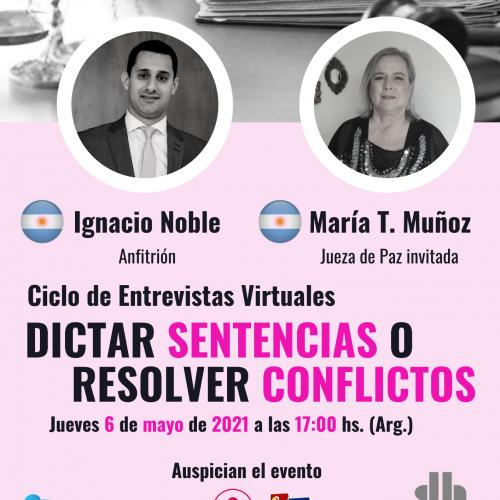 ¿Dictar sentencias o resolver conflictos? con María Teresa Muñoz